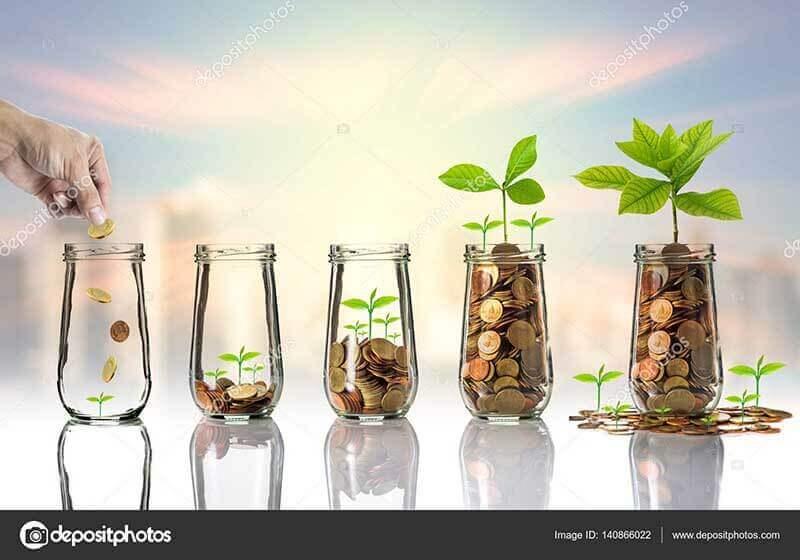 Пример популярного фото-концепта роста прибыли, найден на стоке Depositphotos в качестве примера