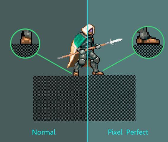 Вот, что такое pixel perfect